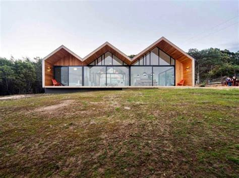 gable roof modern house contemporary house with three gable roofs in tasmania modern home design decor ideas