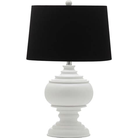 white table l shade safavieh callaway 26 25 in white table l with black