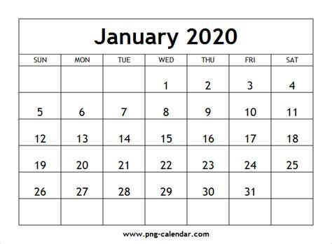 blank january calendar printable png calendar template