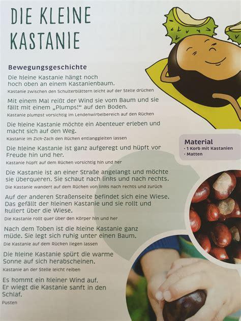 Herbst Kindergarten by Die Kleine Kastanie Herbst Bewegungsgeschichte Kita