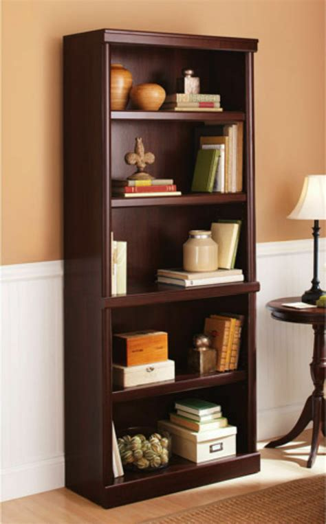 cheap 5 shelf bookcase 5 shelf cherry bookcase wooden book storage shelves