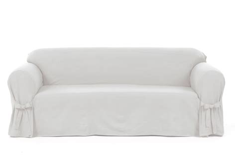 Cotton Loveseat Slipcover by Classic Slipcovers Cotton Duck One Loveseat Slipcover