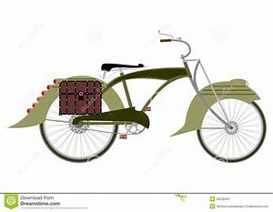 Steampunk Bicycle Silhouette Stock Vector
