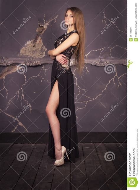 Beautiful Model And Dressed Beautiful Model In A Dress Stock Photo Image 66794580