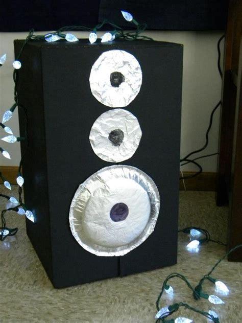 cardboard boxes speakers  paper plates  pinterest