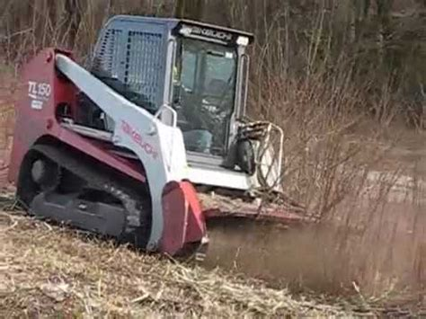 takeuchi tl avec broyeur forestier youtube