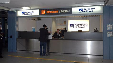 ufficio informazioni aeroporto fiumicino fotogallery aeroporti di roma