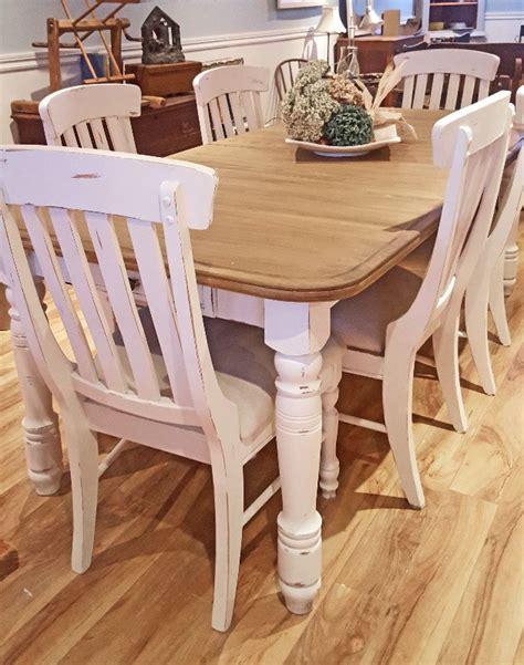 table cuisine cr 232 me blanc cass 233 bois shabby rustique chic mobilier de salle 224 manger et
