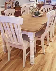 Table De Cuisine En Bois : table cuisine cr me blanc cass bois shabby rustique chic mobilier de salle manger et ~ Teatrodelosmanantiales.com Idées de Décoration