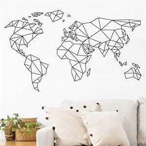 Carte Du Monde Deco : transformez vos murs en oeuvres d 39 art en 2018 home sweet home pinterest carte monde ~ Teatrodelosmanantiales.com Idées de Décoration
