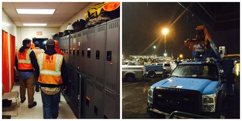 outages  pge crews working   night