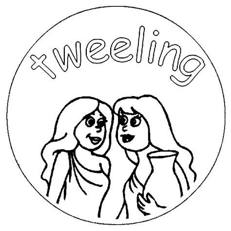 Tweeling Kleurplaten by Sterrenbeeld Kleurplaten Tweeling