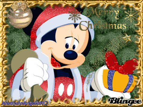 merry christmas mickey mouse picture 103788771 blingee com