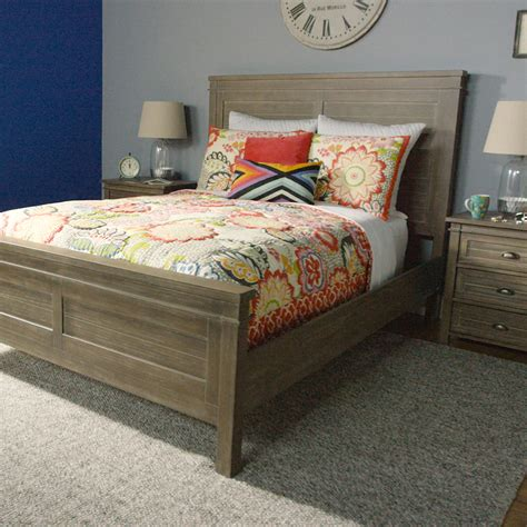 34398 world market bedding gray wood layne bed world market