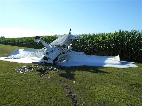 Small Plane Crash-lands, Flips Over In Midland County