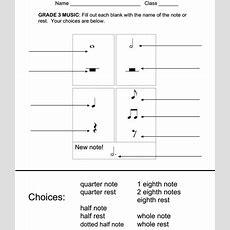 Rhythm Assessment Worksheets Grade 3  Exclusive New Music  Music Worksheets Pinterest