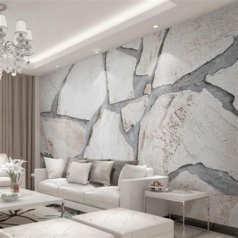 3d Wallpaper Texture For Bedroom by Beibehang 3d Wallpaper Modern Simple Cubic Marble Texture