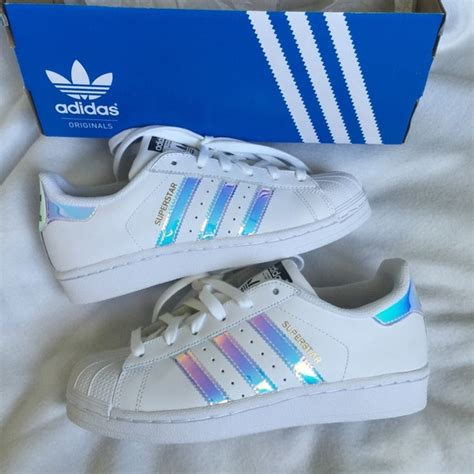 baby shoes size 2 adidas rainbow holographic adidas superstar size 6 from