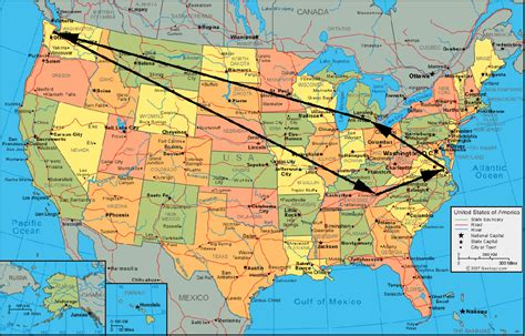 map  united states tourist travelquazcom