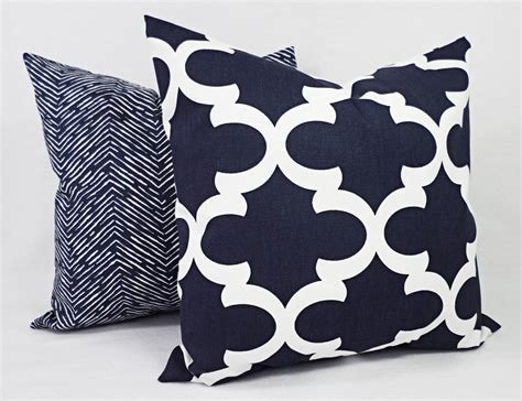 Navy Decorative Pillows by Navy Blue And White Decorative Pillows Best Decor Things