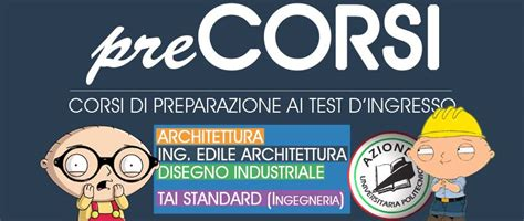 Test D Ingresso Ingegneria Edile Architettura by Precorsi 2015 Corsi Di Preparazione Al Test D Ingresso Di