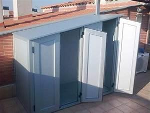 Armarios de exterior en aluminio estancos enDiagonal Mar; Poble Nou, Barcelona