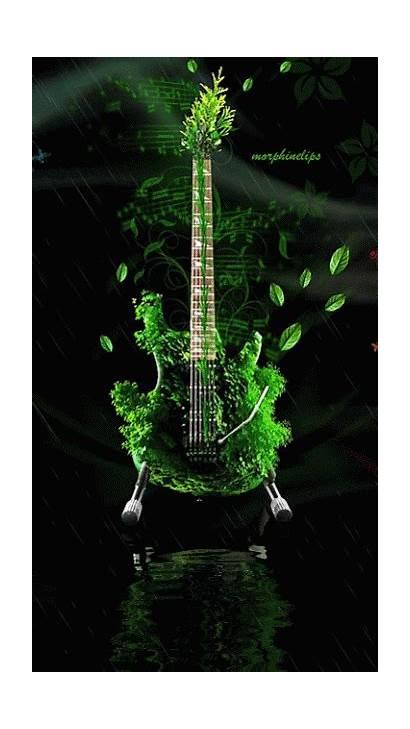 Guitar Google Guitars Gifs Abstract Digital Flaming