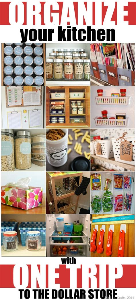 kitchen organization ideas diy organize your kitchen with one trip to the dollar 5437