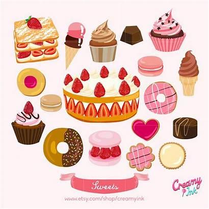 Clipart Cake Sweets Vector Clip Dessert Illustration