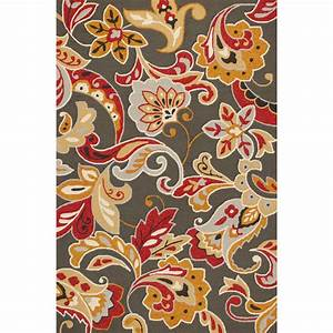 harbor taupe flora indoor outdoor rug 8 x 10