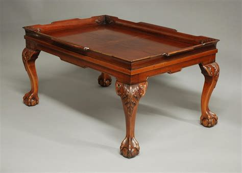 Mahogany Tray Top Coffee Table In Sold Archive