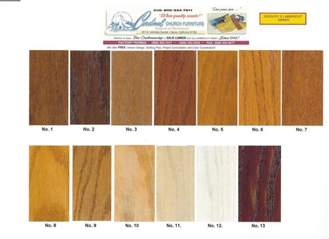 wood color chart wood color chart cardinal church furniture official