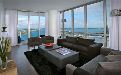 Apartments Wallpaper by Panoramic City View Room Apartment Hd Wallpaper