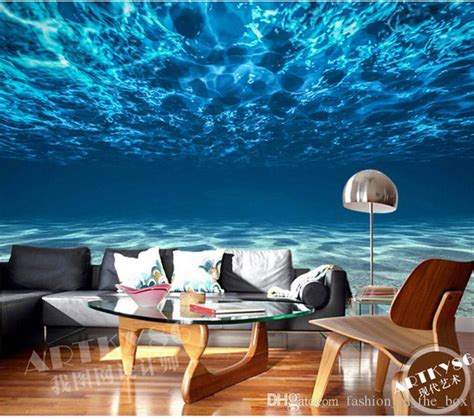 charming deep sea photo wallpaper custom ocean scenery wallpaper large mural silk wall painting