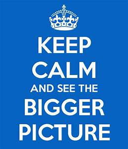 Keep calm and see the bigger picture poster annelies for The bigger picture