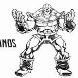 Coloring Thanos Gauntlet Perez Infinity George Drawing sketch template