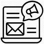 Marketing Icon Direct Campaign Emails Advertisement Icons