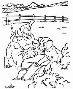 Dog Coloring Pages | Printable Farm hound dogs coloring ...