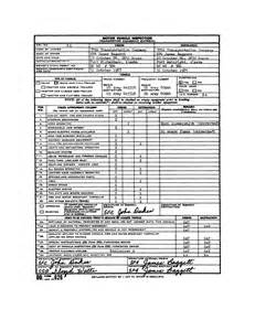 Motor Vehicle Inspection Form