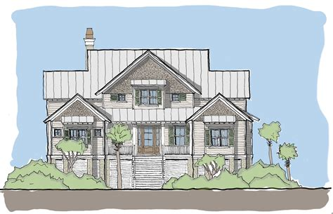 house plans with screened porches edisto tide flatfish island designs coastal home plans