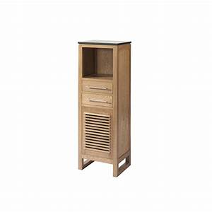 Meuble Bois Salle De Bain : meuble bas salle de bain bois ~ Dailycaller-alerts.com Idées de Décoration