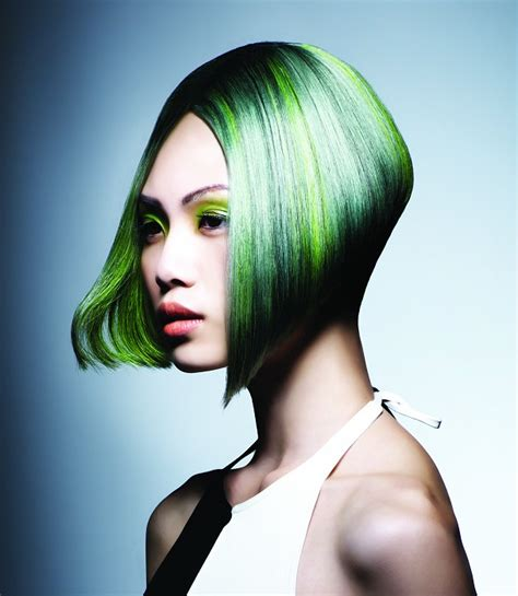 Paul Mitchell Hairstyles by A Medium Green Hairstyle From The The Colour Project