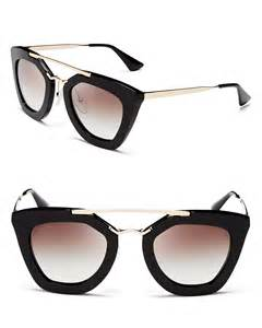 prada cat eye sunglasses prada cat eye sunglasses 49mm in black lyst