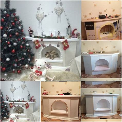 diy chimeneas de carton  telgopor  decoracion de