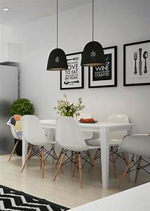 Idee relooking cuisine salle a manger blanche avec table for Idee deco cuisine avec chaises salle a manger blanche