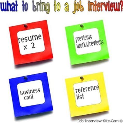 bring   job interview