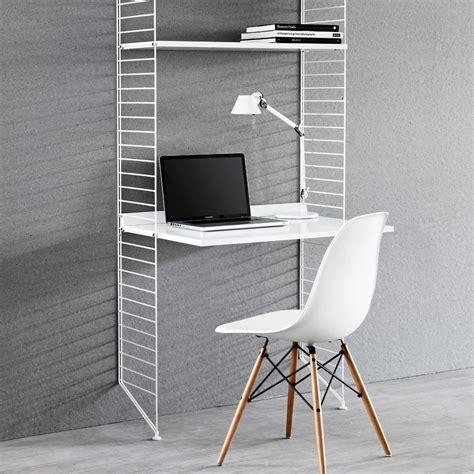 etagere bureau bureau étagères blanc blanc string design enfant