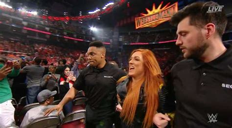 becky lynch appears  wwe elimination chamber attacks