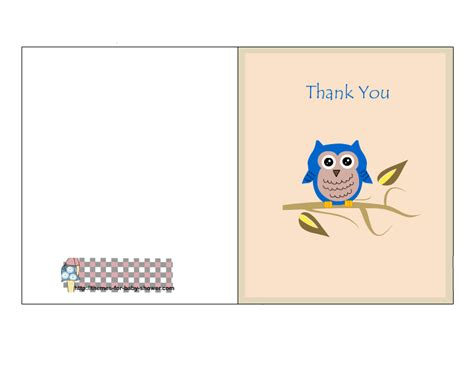 free printable cards free printable owl baby shower thank you cards