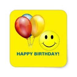 Smiley Happy Birthday Stickers